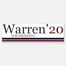 Warren for president '20 Bumper Bumper Bumper Sticker