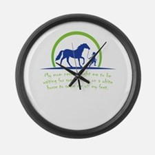 my mom never taught me to be wait Large Wall Clock