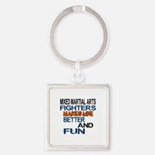 Mixed Martial Arts Fighters Makes Square Keychain