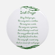 irishprayer.png Round Ornament