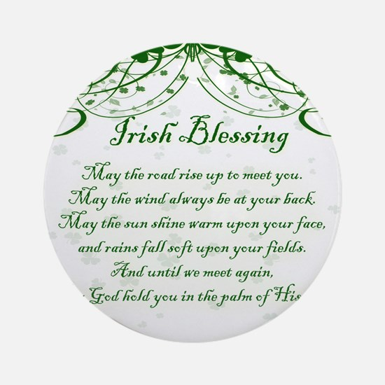 irishblessing.png Round Ornament
