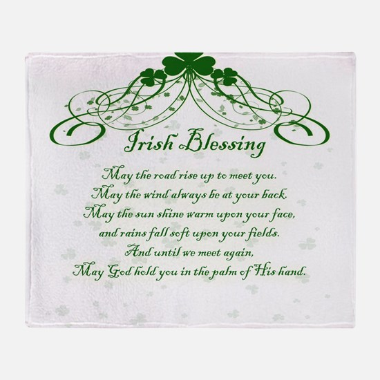 irishblessing.png Throw Blanket