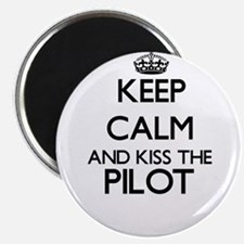 Keep calm and kiss the Pilot Magnets
