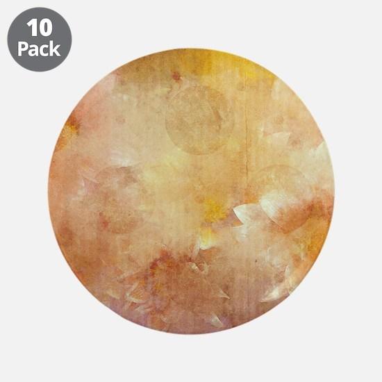 """Vintage Floral Grunge Nostal 3.5"""" Button (10 pack)"""