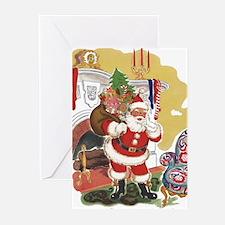 Vintage Christmas, Santa Claus Greeting Cards
