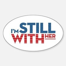 I'm Still With Her Sticker (Oval)