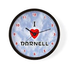 I Love Darnell (Red/Blk) Valentine Wall Clock