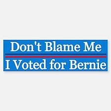 I Voted For Bernie Bumper Bumper Bumper Sticker