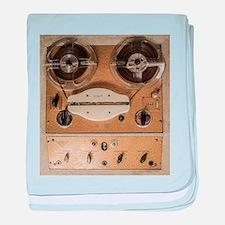 Vintage tape sound recorder reel to r baby blanket