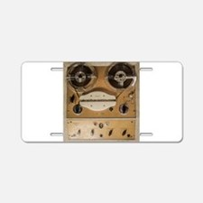 Vintage tape sound recorder Aluminum License Plate
