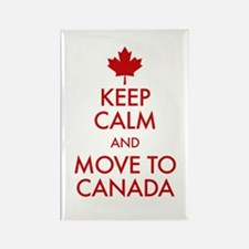 Keep Calm Move to Canada Magnets