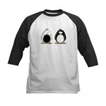 Backwards Penguin Kids Baseball Jersey