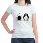 Backwards Penguin Jr. Ringer T-Shirt