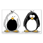 Backwards Penguin Rectangle Sticker