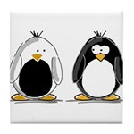 Backwards Penguin Tile Coaster
