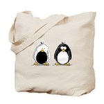 Backwards Penguin Tote Bag