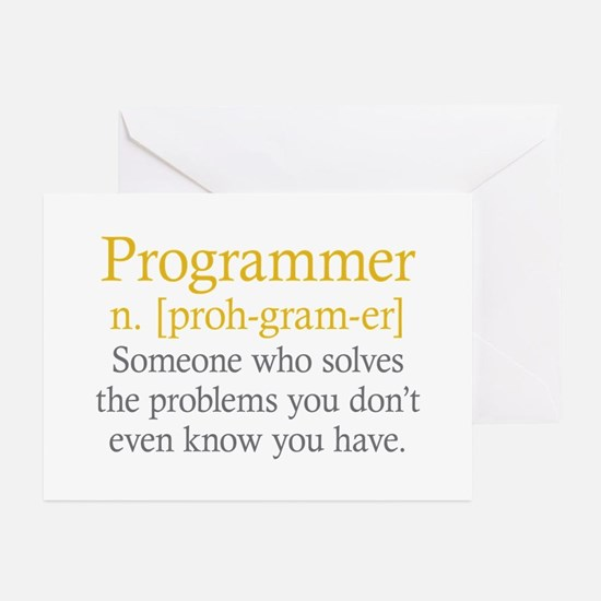 Programmer Definition Greeting Cards