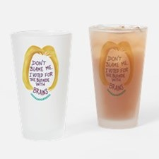 Cute Freedom expression Drinking Glass