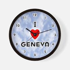 I Love Geneva (Black) Valentine Wall Clock