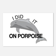 I did it on porpoise Pun Postcards (Package of 8)