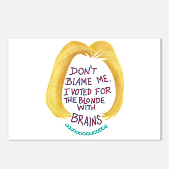 Don't Blame me I vote Postcards (Package of 8)