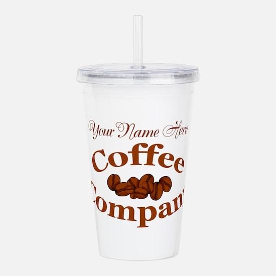 Vintage Coffee Company Acrylic Double-wall Tumbler