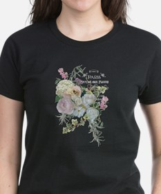 French Flower Market Paris Roses Peony Hyd T-Shirt