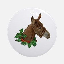 Muletide Greetings Round Ornament