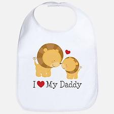 I Heart My Daddy Baby Bib