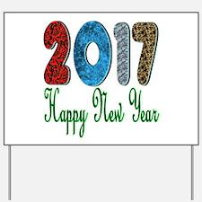 2017 Happy New Year Yard Sign