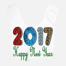 2017 Happy New Year FB Polyester Baby Bib
