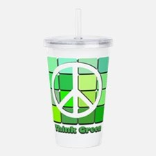 Think Green Acrylic Double-wall Tumbler