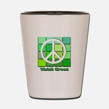 Think Green Shot Glass