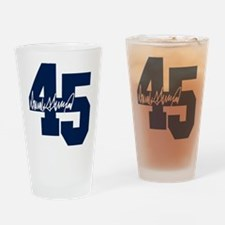 President Trump 45 - Donald Trump Drinking Glass