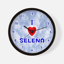 I Love Selena (Blue) Valentine Wall Clock