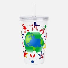 Earth Day Acrylic Double-wall Tumbler
