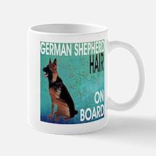 German Shepherd Dog Hair on Board Mugs