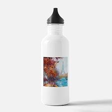 Paris Painting Sports Water Bottle