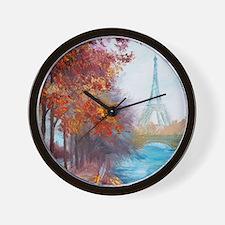 Paris Painting Wall Clock