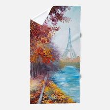 Paris Painting Beach Towel