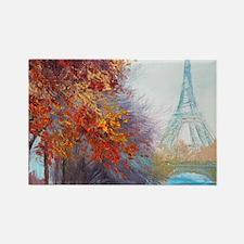 Paris Painting Rectangle Magnet