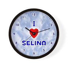 I Love Selina (Blue) Valentine Wall Clock