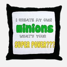 Minion Super Power Throw Pillow
