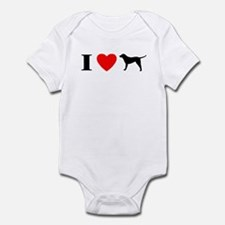 I Heart Chesapeake Bay Retriever Baby Bodysuit