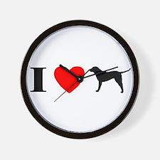 I Heart Chesapeake Bay Wall Clock