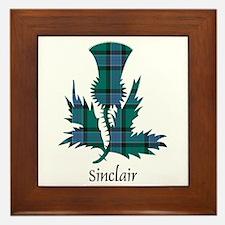 Thistle-Sinclair hunting Framed Tile