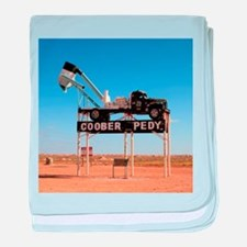 Coober Pedy town sign, Australia baby blanket
