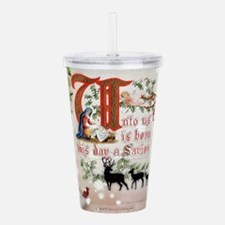 Vintage Nativity Acrylic Double-wall Tumbler