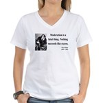 Oscar Wilde 19 Women's V-Neck T-Shirt