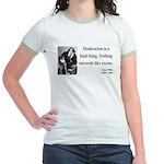 Oscar Wilde 19 Jr. Ringer T-Shirt